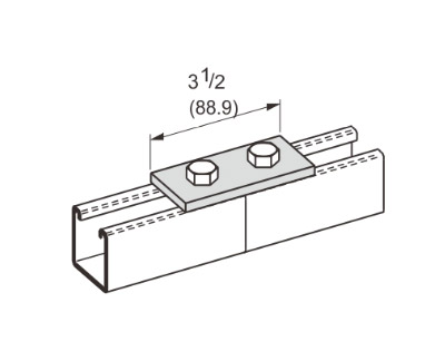2 Hole Flat Plate Connector L1003