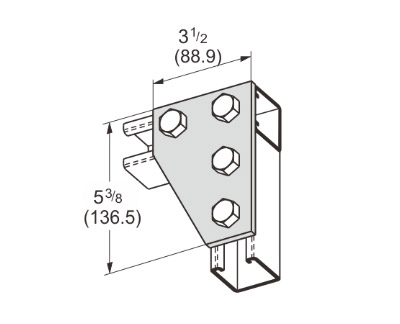 4 Hole Corner Connector L1018