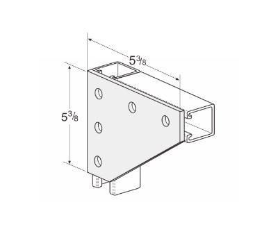 5 Hole Corner Gusset Plate L1020