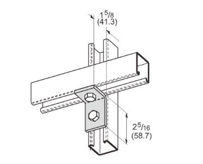 2 Hole Corner Angle L1105