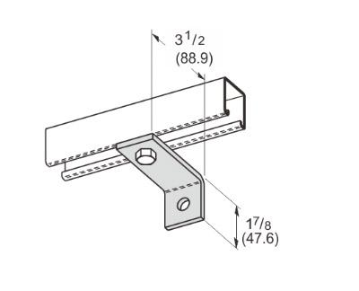 2 Hole Corner Angle L1109