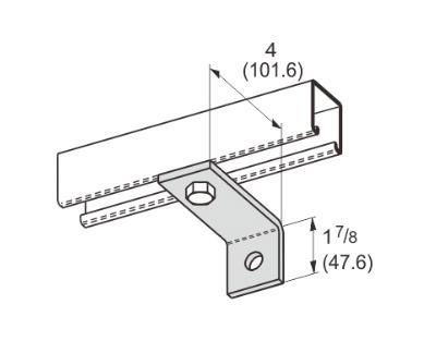 2 Hole Corner Angle L1110