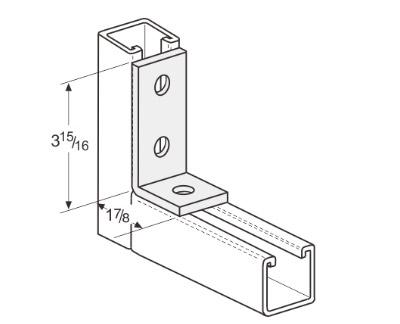 3 Hole Corner Angle L1113