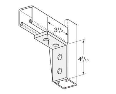 4 Hole Corner Angle L1116