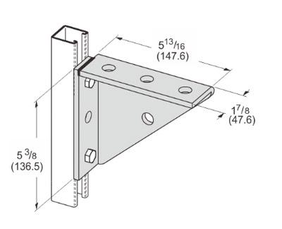Universal Shelf Bracket Welded L1121