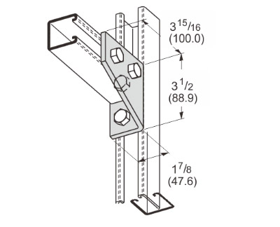 3 Hole Gussetted Shelf Angle L1125