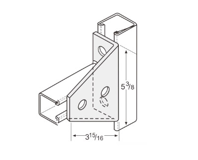 4 Hole Gussetted Shelf Angle L1128