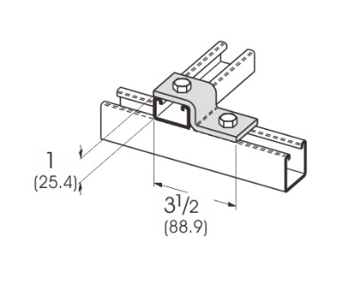 2 Hole Offset Z-Support L1203