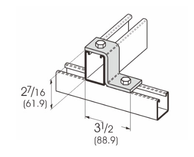 2 Hole Offset Z-Support L1205