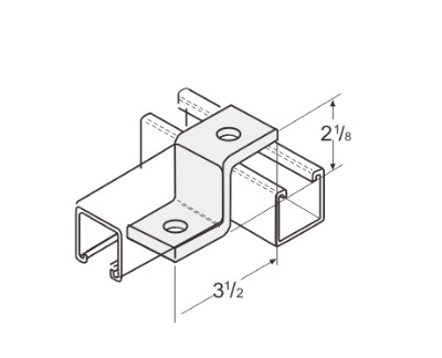 2 Hole Offset Z-Support L1209