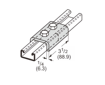 2 Hole Splice Channel L1301
