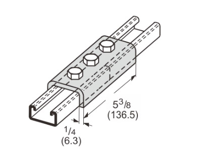 3 Hole Splice Channel L1302