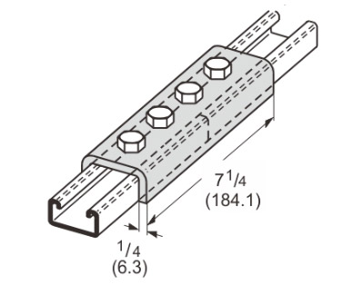 4 Hole Splice Channel L1303