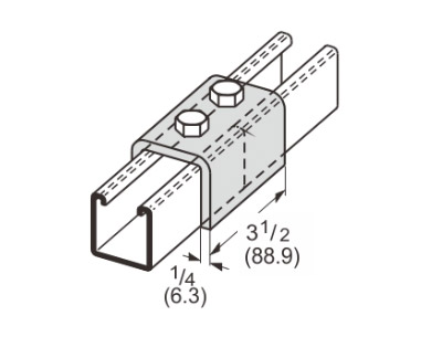 2 Hole Splice Channel L1304