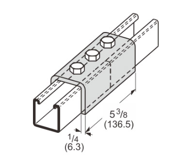 3 Hole Splice Channel L1305