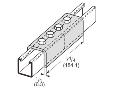 4 Hole Splice Channel L1306