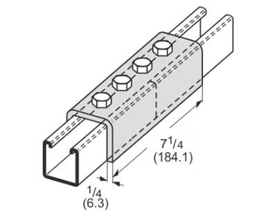4 Hole Splice Channel L1306