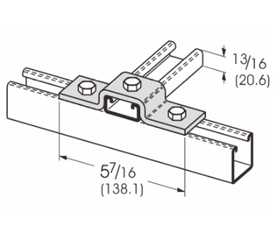 3 Hole U-Support L1311