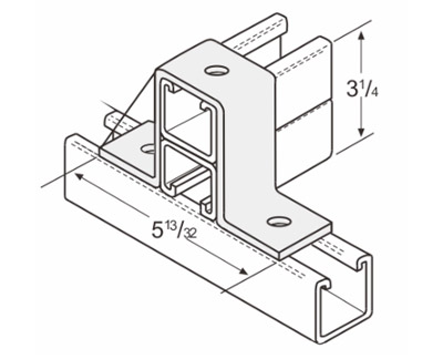 3 Hole U-Support L1317