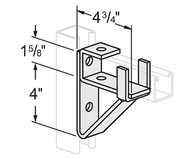 Single Channel Bracket Support L1413