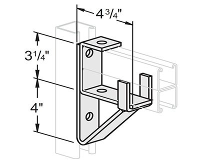 Double Channel Bracket Support L1414