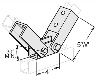 Adj. Double Channel Hinge L1420
