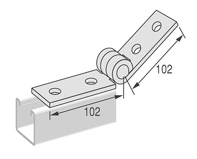 Adj. Double Channel Hinge L1422