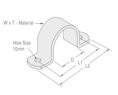 Medium Duty Saddle Clamp