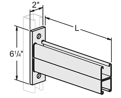 Double Channel Flat Plate Bracket