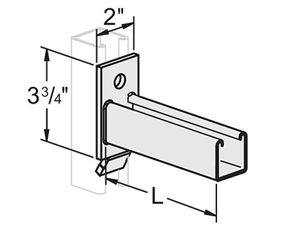 No Swivel Channel Bracket Open Up