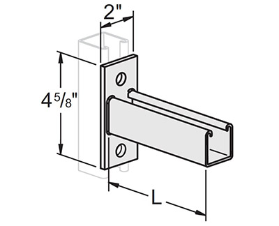Single Channel Flat Plate Bracket