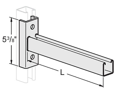Single Channel Reversible Clevis Bracket
